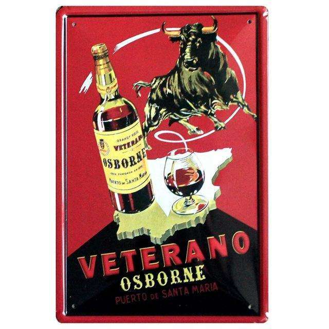 "Plaque Métal Vintage ""Osborne Veterano Brandy"", ShopVip, Default Title"
