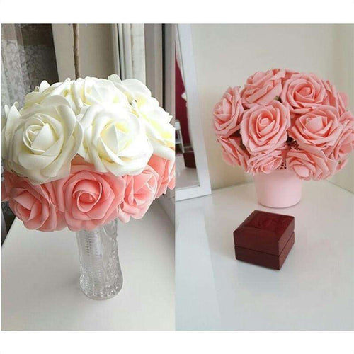 Lot de 10 roses en mousses, , ShopVip