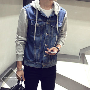 Casual Denim Hooded Jacket