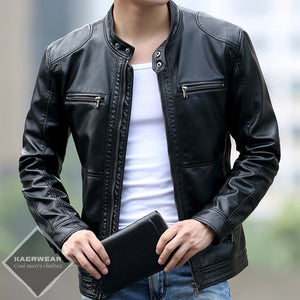 Contemporary Short Leather Jacket - 3 Colors