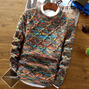 Motley Knitted Pullover - 3 Color
