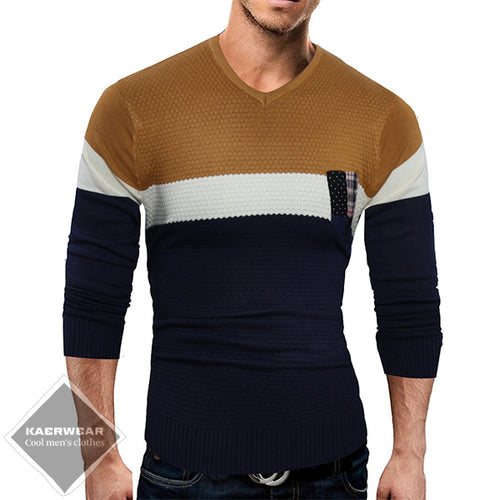 Horizontal-Striped Casual Sweater - 2 Colors