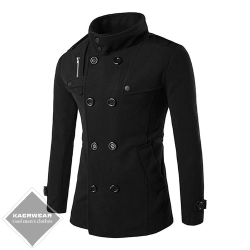 British Style Winter Coat - 2 Colors