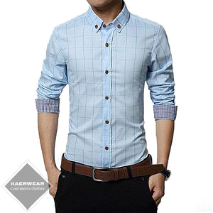 Classic Plaids Fitted Dress Shirt - 6 Colors