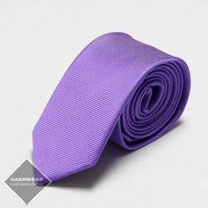 Purple Slim Neck Tie