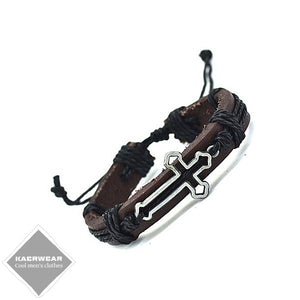 Cross Genuine Leather Bracelet