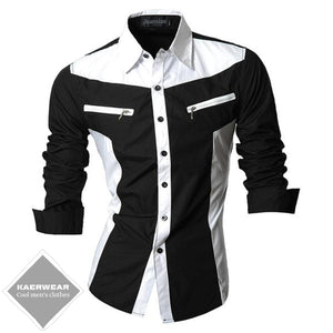 Long Sleeve Slim-Fit Casual Shirts - 4 Colors