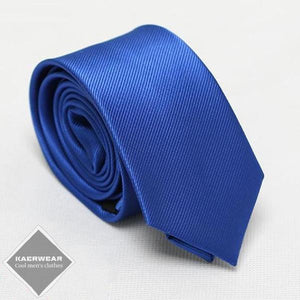 Blue Men's Slim Neck Tie