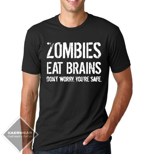 Zombies Eat Brains T-Shirt - 7 Colors