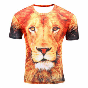 Printed Round Neck T-shirt - 17 Colors