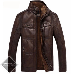 Warm Leather Jacket - 3 Colors