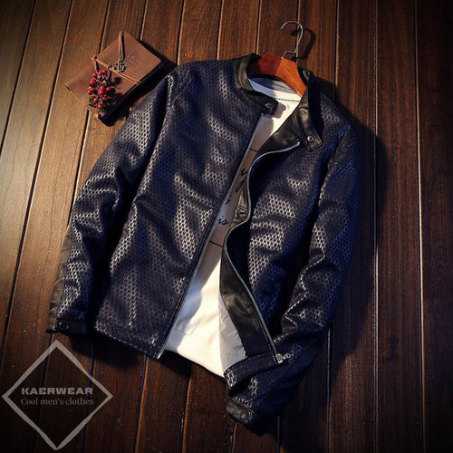 Contemporary  Leather Jacket - 2 Colors