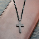 Black Plated Jesus Necklace