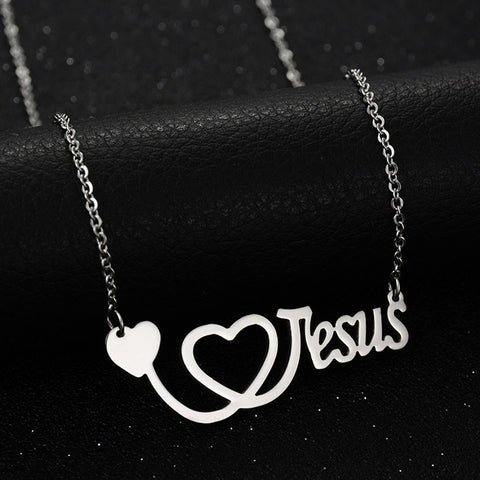 Stainless Steel Jesus Chain Necklace