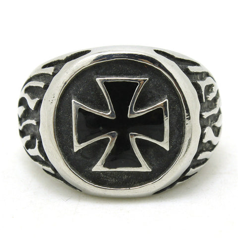 Stainless Steel Cool Jesus Cross Ring