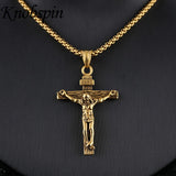 Gold Color Stainless Steel Jesus Necklaces