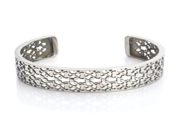 Bangle Stainless Steel - Filligree 15mm