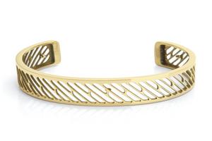 Bangle Pixel - Soft Gold 15mm