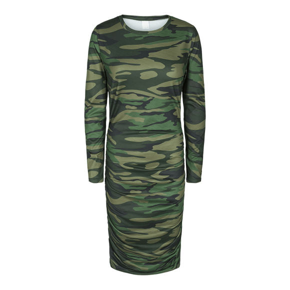 Alma kjóll army long dress