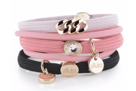 Hair Ties - Sorbet, Black & Rose with Rose Gold
