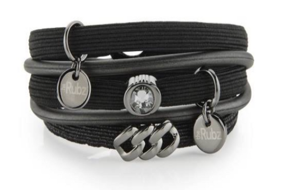 Hair Ties - Black With Gun Metal