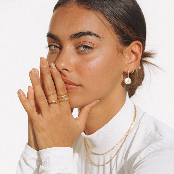 Pedro Gold Stacking Ring
