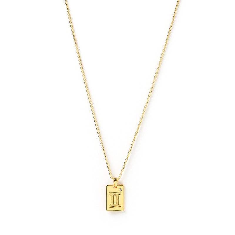 Zodiac Gold Tag Necklace
