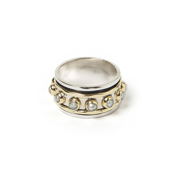 Alyssa Two-Tone Pearl Ring