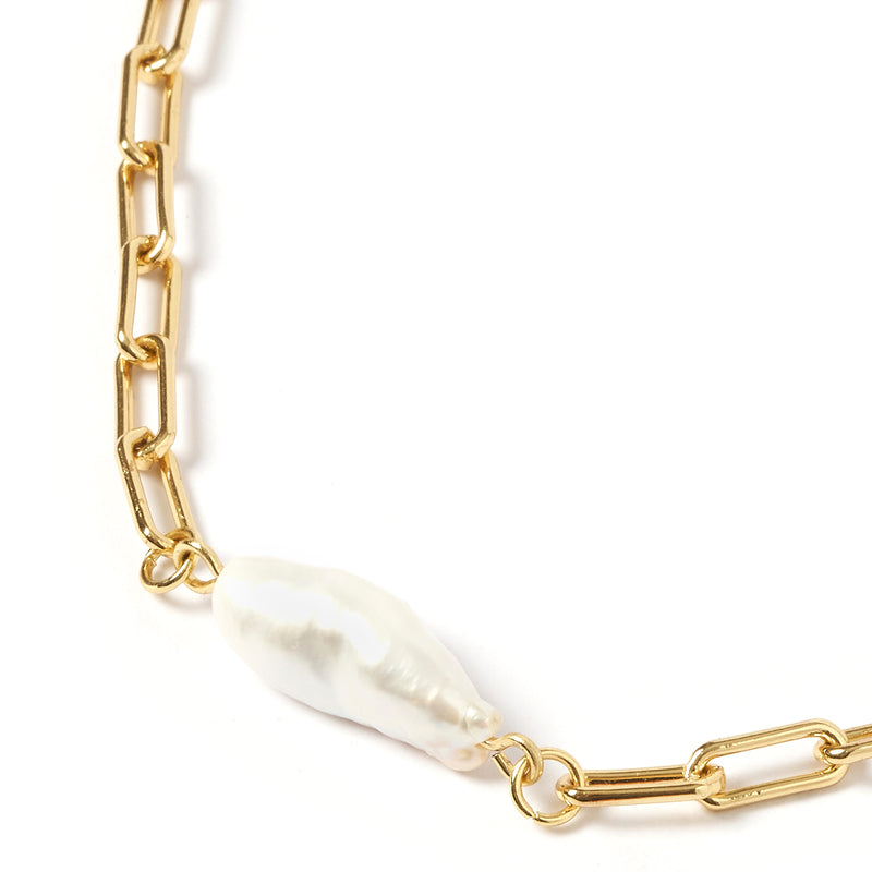 Cecilia Gold and Pearl Necklace