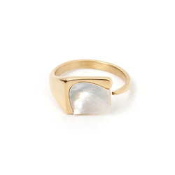 Cleo Gold and Mother of Pearl Ring
