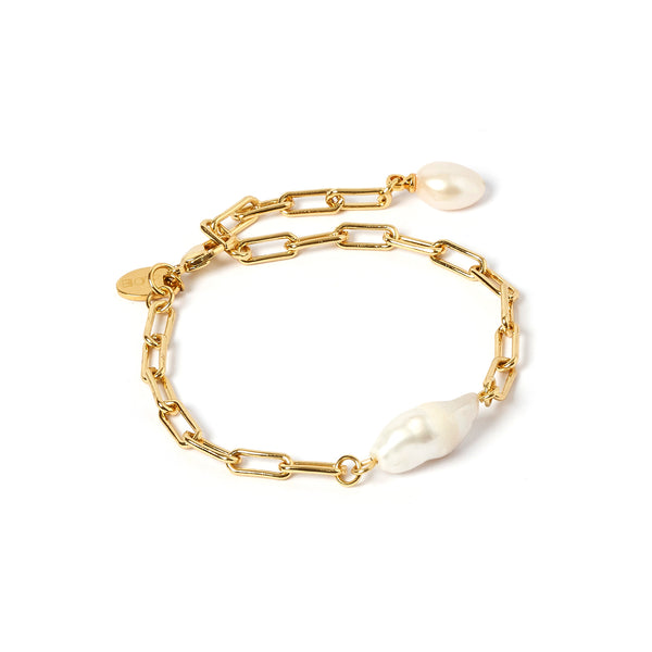 Danielle Gold and Pearl Bracelet