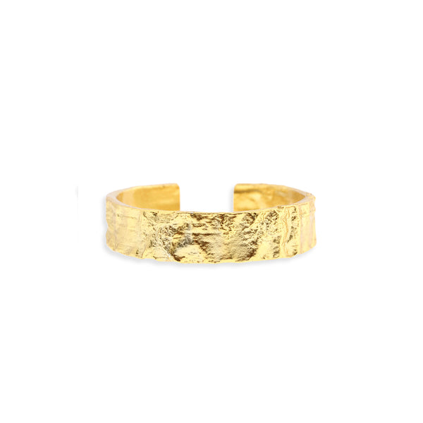 Eros Gold Textured Ring - Medium