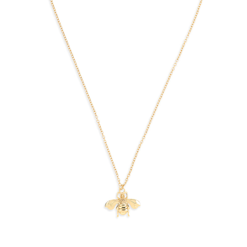 Honey Bee Gold Pendant Necklace