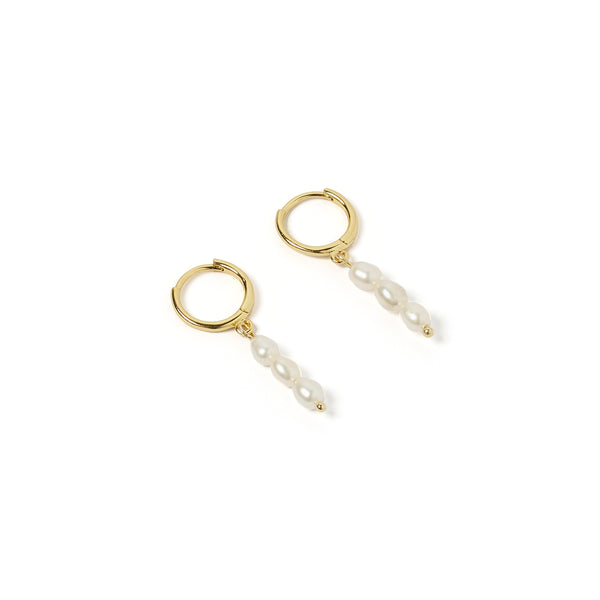 Indiana Gold and Pearl Earrings