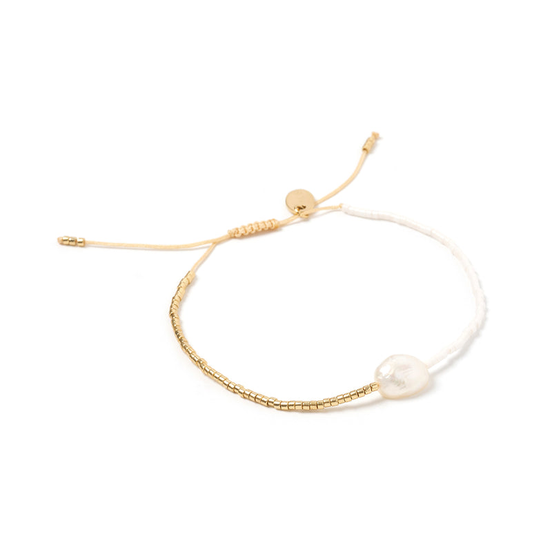 Matilda Pearl & Glass Beaded Bracelet - White