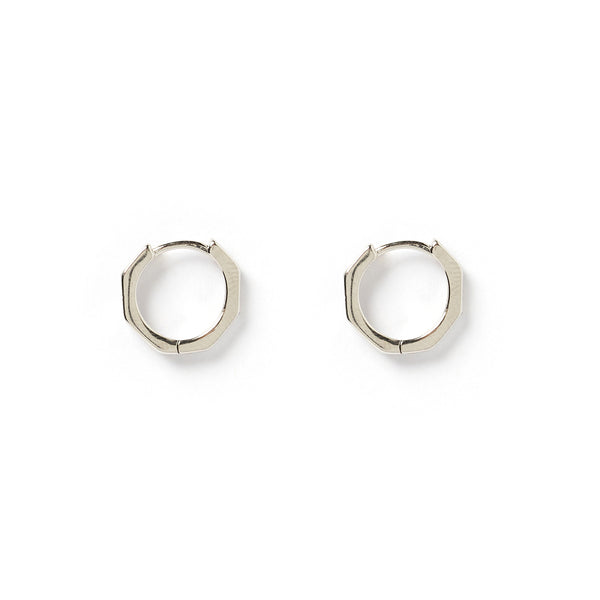 Noah Silver Hexagon Earrings