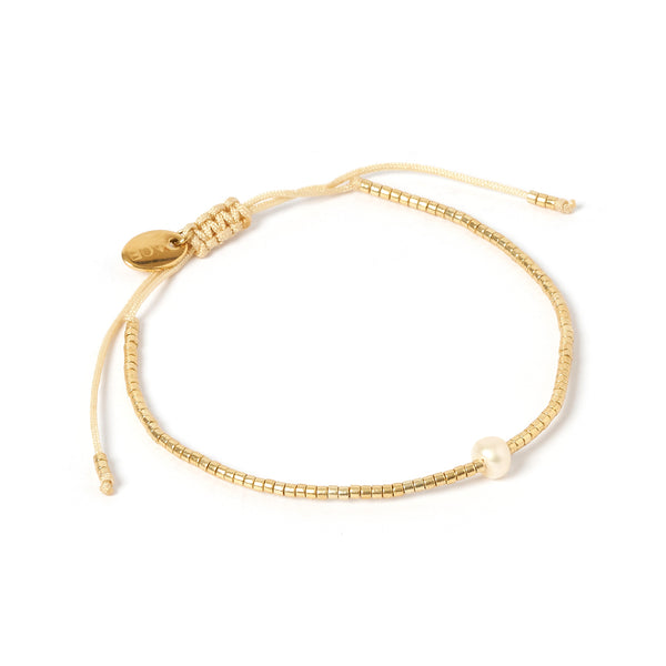 River Gold and Pearl Bracelet