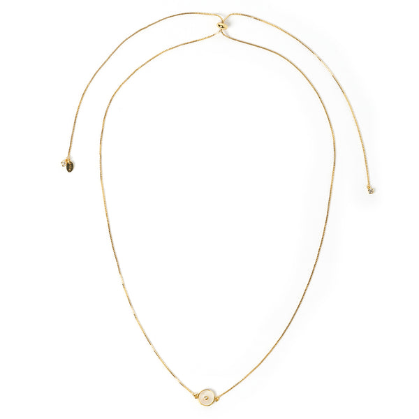 Saturn Gold and Mother Of Pearl Choker