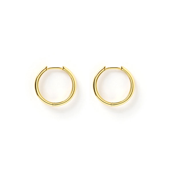 Scarlet Gold Hoop Earrings