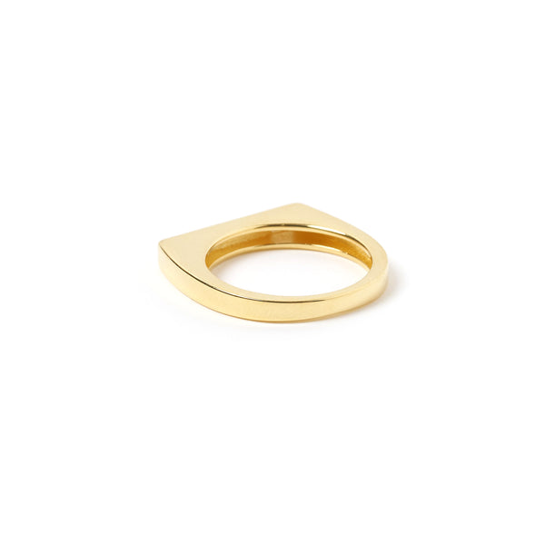 Cruz Gold and Enamel Stone Ring - Navy