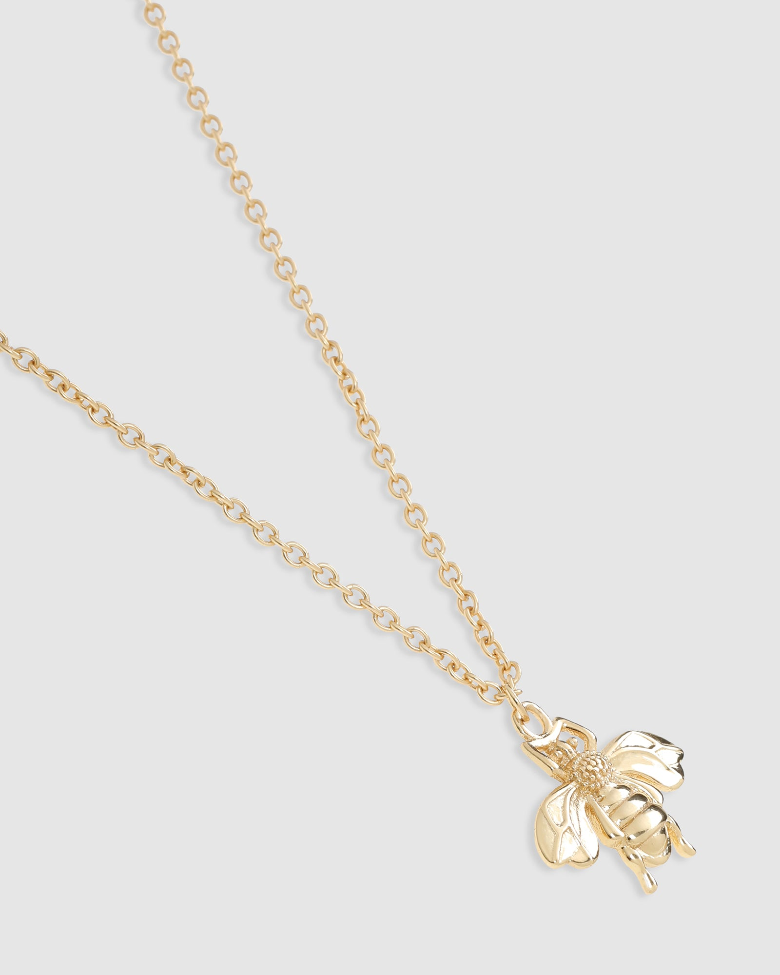 Honey Bee Gold Pendant Necklace - 18k gold