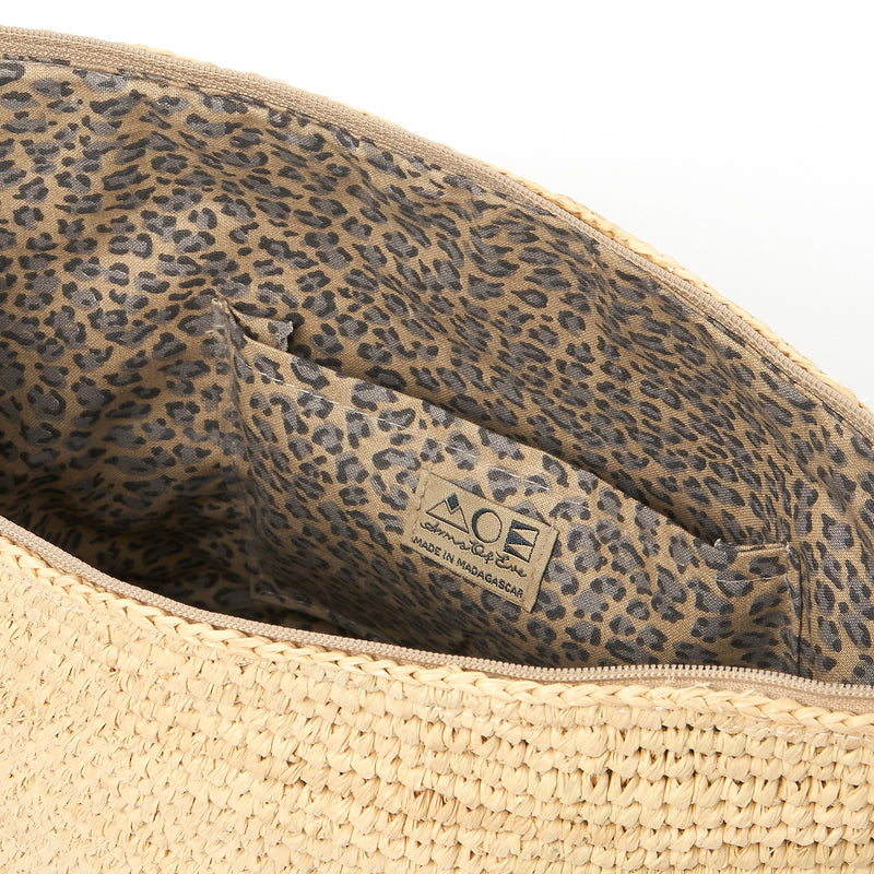 Tiana Woven Large Bag - Light Natural