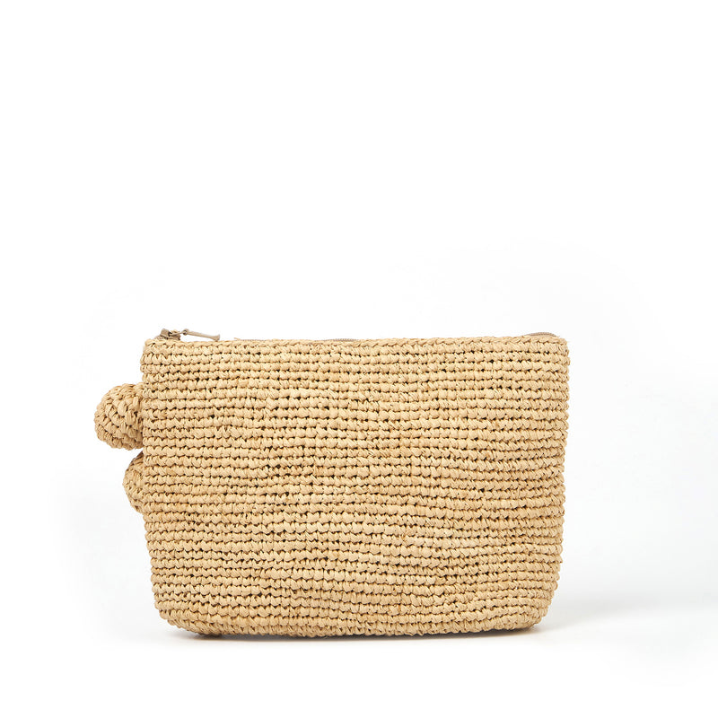 Tiana Woven Small Bag - Light Natural