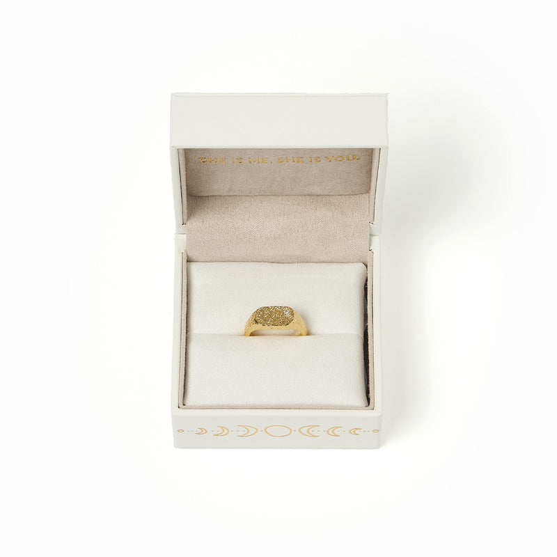 Eros Gold Textured Ring - Small