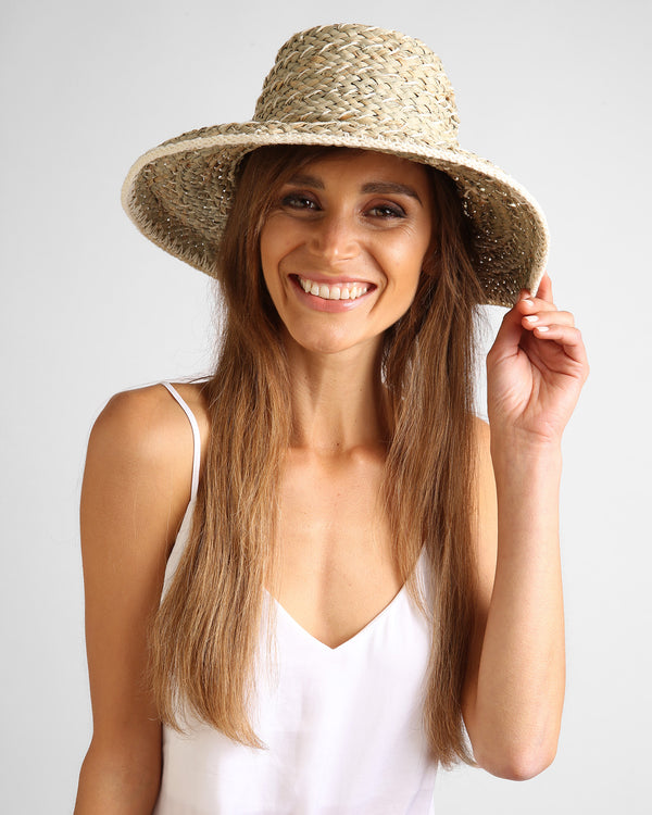 Havana Crochet Sun Hat - Natural