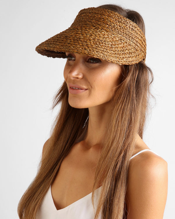 Sunray Roll Up Sun Visor - Dark Natural
