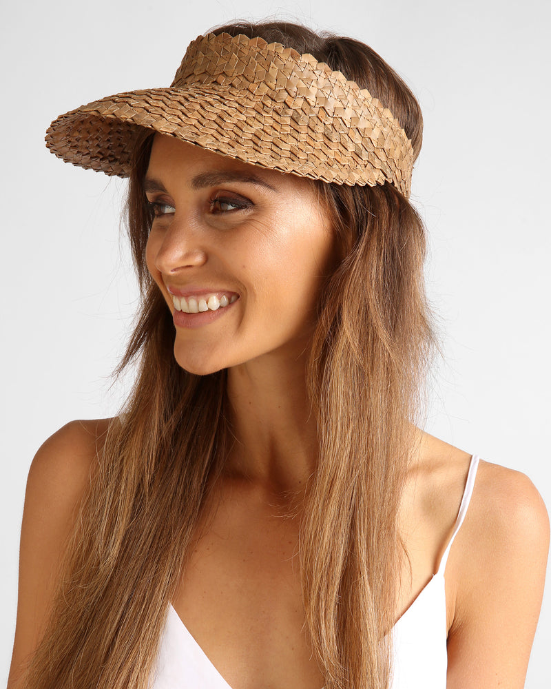 Solstice Sun Visor - Dark Natural