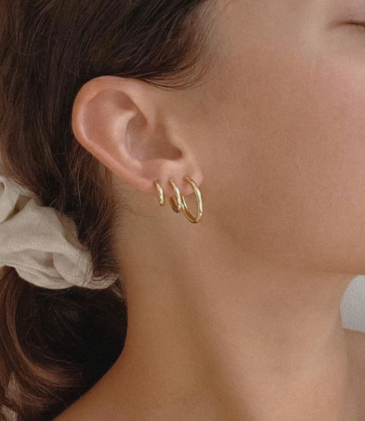 Smooth Hoop Earring Stack