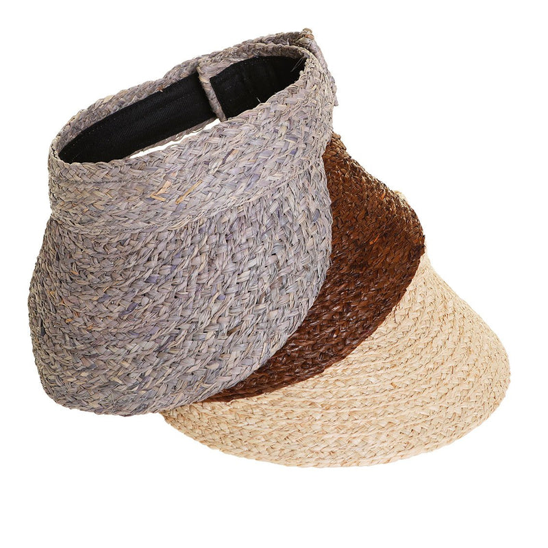Sunray Roll Up Sun Visor - Light Natural