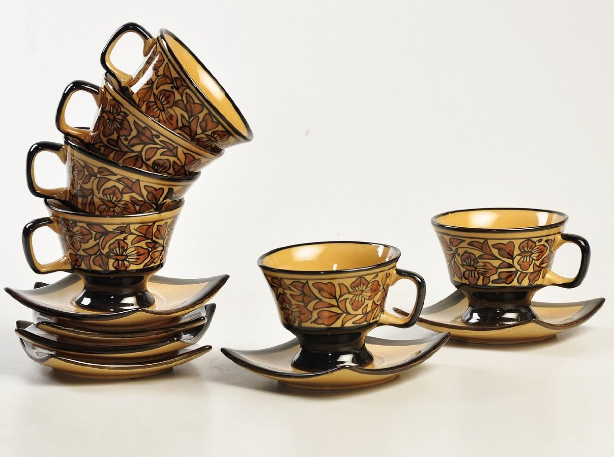 Heritage Cup N saucer - Set of 6 cups & 6 saucers